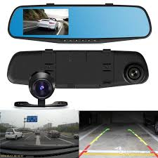 full hd pz916 car dvr 4 3 inch car dash camera dual carema vehicle