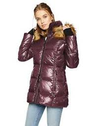 S13 Coat Size Chart Details About S13 Women Red Wine Quilted Down Hooded Gramercy Faux Fur Puffer Jacket Coat