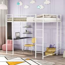 berg 22 808 twin loft bed with desk