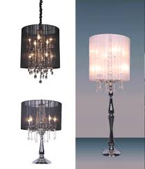 ... Chandelier Style Floor Lamp And With Crystal Table Lamps 15 Ways To Make  Any Home Shine ...