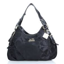 Coach Fashion Signature Medium Black Shoulder Bags DZK