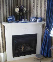 corner fireplace design picture