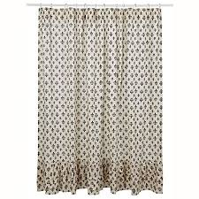 cream and black shower curtain. get quotations · country style black gray and cream elysee parisian ruffled shower curtain 72x72