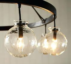 glass globe chandelier modern
