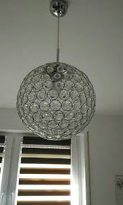 Design Kugel Pendel Hänge Lampe Kristall