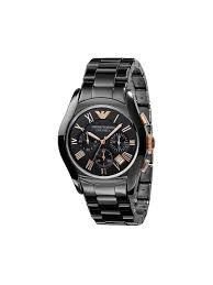emporio armani men s ar1410 ceramic black chronograph rose gold watch emporio armani men s ar1410 ceramic black chronograph dial rose gold watch