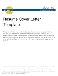 Template For Cover Letter For Resume Resume And Cover Letter