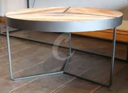 metal framed reclaimed boatwood table