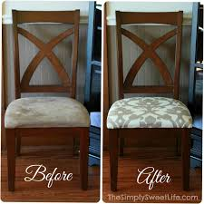 How To Recover Dining Room Chairs Just For Me In 40 Pinterest Interesting Reupholstered Dining Room Chairs