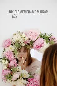 Paper Flower Frame Make This Diy Fresh Flower Framed Mirror Paper And Stitch