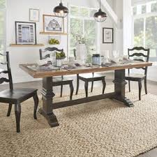 Eleanor Two-tone Rectangular Solid Wood Top Dining Table by iNSPIRE Q  Classic