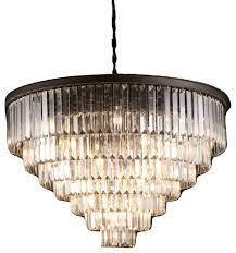 7 tier odeon fringe crystal chandelier