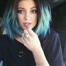 kylie jenner kardashian cheveux bleu hair fashion style instagram ...