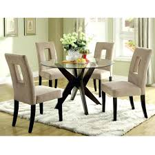 glass round dining table small round glass table and modern chairs idea for dining room thicker