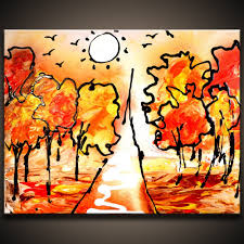 painting autumn simple and effective abstract art painting techniques abstractartlesson com you