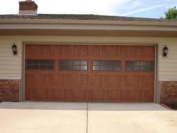 ideal garage doorAfter Photo Ideal Expressions Garage Door with a Dark Oak Ultra