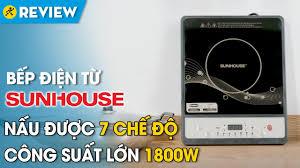 Bếp điện từ Sunhouse: nhỏ gọn, an toàn khi sử dụng (SHD6149) • Điện máy  XANH - YouTube