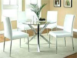 glass dining room sets glass dining room table set modern round w white chairs top and