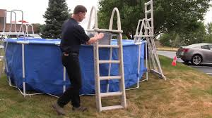 Above ground pool ladder Summer Wave Pool Above Ground Pool Ladder Safety Youtube Above Ground Pool Ladder Safety Youtube
