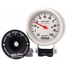 tachometers gauges car truck parts auto meter 6604 ultra lite 3 3 4in silver tach 10000 rpm