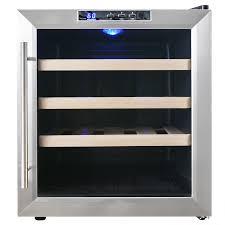 Cabinet With Wine Cooler Akdy 16 Bottle Single Zone Freestanding Wine Refrigerator