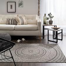 rustic circles beige rug