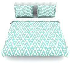 amanda lane geo tribal turquoise sky teal aztec duvet cover cotton queen turquoise duvet covers queen