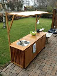 build your own outdoor utility sink kitchen garden shades wooden storage faucet flooring cabinets base home