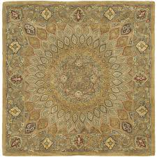 safavieh heritage chador light brown gray square indoor handcrafted oriental area rug common