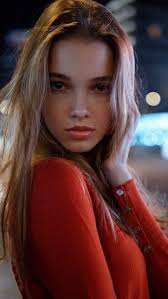 Beautiful Girl Red Dress Pose Iphone Wallpaper Free