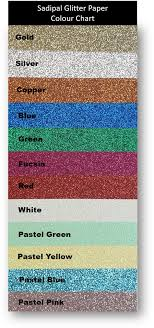 Red Colour Chart Paper Sadipal Glitter Paper 330gsm Prime Art
