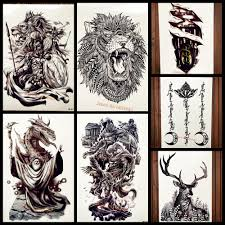 Dragon Design Us 1 16 Magicians With Dragon Design Fake Flash Temporary Tattoo For Men Body Art Arm Waterproof Tattoo Sticker Women Body Art Arm Tatoo In