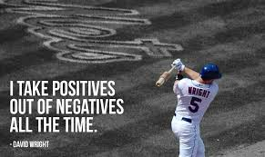 Famous Baseball Quotes Fascinating Great Baseball Quotes By David Wright New York Mets Motivational
