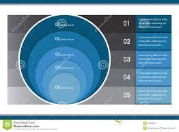 Circle Within Circle Chart Creative Infographic Circle Chart Stock Vector