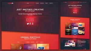 Design A Creative Portfolio Web Design Layout In Photoshop Youtube
