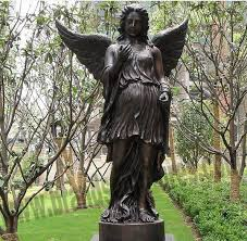 big western bronze outdoor angel yard statues factory and manufacturers china customized s piedra world limited
