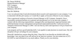 Cover Letter Template Executive Director Resume Format