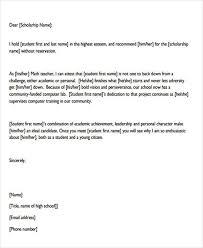 Recommendation Letter For Student Scholarship Pdf Scholarship Recommendation Letter Sample Calmlife091018 Com