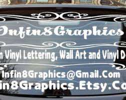 car letter decals custom window decal etsy