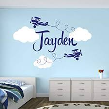 Custom Airplane Name Wall Decal - Boys Kids Room ... - Amazon.com