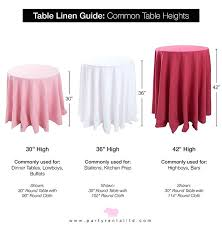 52 inch round tablecloth the lets talk linens the ultimate guide to table linen sizes party