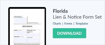 notice to owner form florida free florida lien forms mechanics lien bond claim and notice to owner