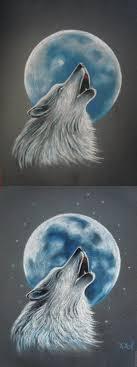 волк воющий на луну фото от земли до неба
