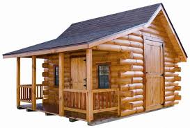barn style front doorExcellent Small Portable Log Home Using Modern Roof Pattern Above