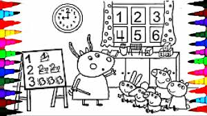 color book page. Unique Book PEPPA PIG Coloring Book Pages Kids Fun Art Activities For Children Learning  Rainbow Colours In Color Page B