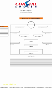soccer lineup template soccer lineup template image collections template design ideas