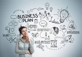 Inspired African American Girl Business Plan Stock Image