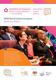 2018 world cancer congress summary report pdf