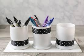 diy office supplies. diy pen and office supply organizer diy supplies
