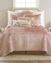 blush velvet quilt contemporary new